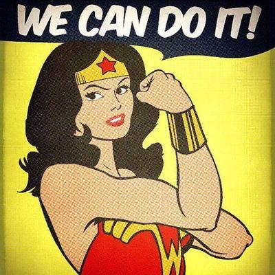 Mulher-Maravilha! #WonderWoman #MulherMaravilha #DC #DCcomics #geek #nerd #girlpower #nerdpride #orgulhonerd