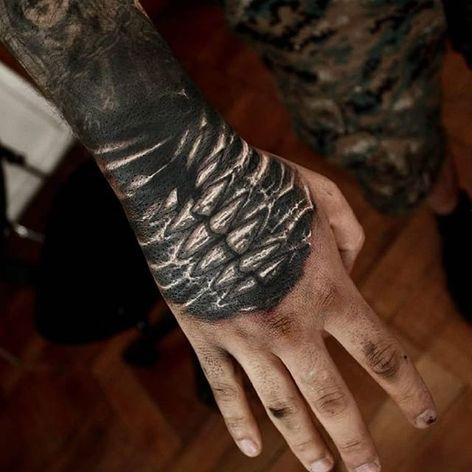Teeth Tattoo by Matias Felipe #darkart #darkink #darkartist #blackwork #blackandgrey #MatiasFelipe #hand