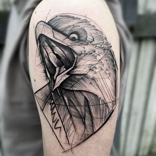 Eagle Chaotic Blackwork Tattoo by Frank Carrilho @FrankCarrilho #FrankCarrilhoTattoo #FrankCarrilho #Chaotic #Black #Blackwork #Eagle