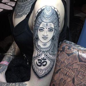 Shiva by Flo Nutall (via IG-flonuttall) #gods #goddesses #hinduism #buddhism #mythology #iconography