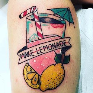When Life Gives You Lemonade Tattoos (via IG—lamoglietatuata) #Lemonade #Lemons #Summer