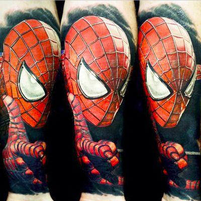 Spider-Man by Nikko Hurtado (IG—nikkohurtado) #NikkoHurtado #spiderman #spidermantattoo