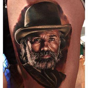Dr King Schultz Tattoo by Kristian Kimonides #DjangoUnchained #Tarantino #Movies #Portrait #KristianKimonides