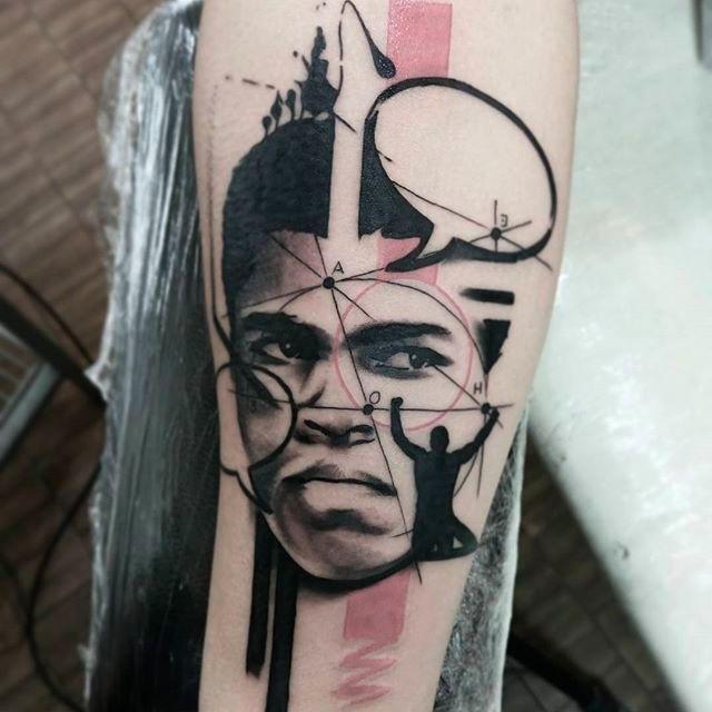 Muhammad Ali Tattoo by Stefano Galati #StefanoGalati #MuhammadAli #MuhammadAliTattoo #CassiusMarcellusClay #CassiusClayTattoo #Tribute #GOAT #TheGreatest #Boxing #Champion