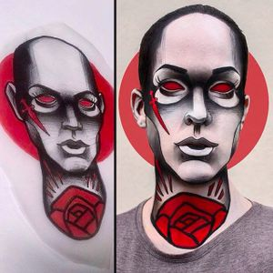 Tattoo design translated into Makeup Art by @Pompberry #Pompberry #Makeup #Art #PompberryMakeupArt #Tattoodesign