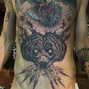 Bear Tattoo by Matt Buck #bear #beartattoo #freehandbear #freehand #freehandtattoo #freehandtattoos #drawnon #drawnondesign #nostencil #nostenciltattoo #MattBuck