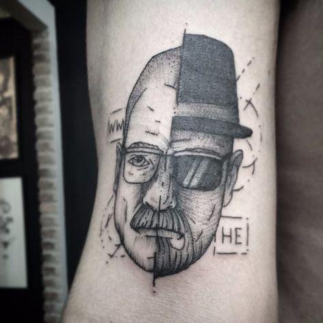 Breaking Bad #PedroVeloso #brazilianartist #tatuadoresdobrasil #brasil #brazil #blackwork #breakingbad #walterwhite #heisenberg #serie #tvshow #nerd #geek #pontilhismo #dotwork #dotline
