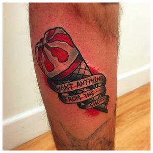 Movie-Inspired Tattoo by Matt Daniels #ShaunoftheDead #SimonPegg #ZombieFilm #Movies #MattDaniels