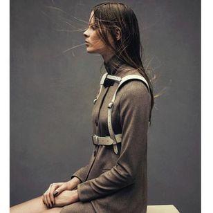 Taupe Harness by Zana Bayne (via IG-zanabayne) #harness #bdsm #leather #luxuryfashion #fashion #zanabayne