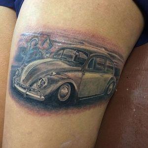 Besourinho #LeoBranquin #Fusca #Beetle #volkswagen #carro #car #automovel #carlovers #realismo #realism #pretoecinza #blackandgrey