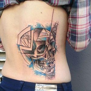 Skull Tattoo by Loreen2l #skull #skulltattoo #watercolorskull #watercolor #watercolortattoo #sketch #sketchtattoo #watercolorsketch #sketchwatercolor #abstractwatercolor #Loreen2L