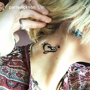 Paris Jackson's neck tattoo. #ParisJackson #Celebrities #NeckTattoo #Music #MusicTattoo