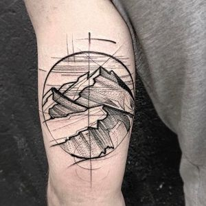 Mountain Scenery Chaotic Blackwork Tattoo by Frank Carrilho @FrankCarrilho #FrankCarrilhoTattoo #FrankCarrilho #Chaotic #Black #Blackwork #Mountain #Scenery