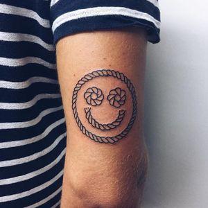 Smile  by Jean Andre (via IG-je_andre) #art #fineart #artshare #handpoke #nsfw