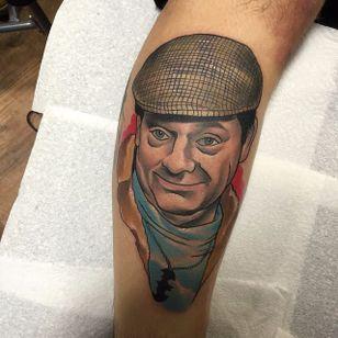 Delboy Tattoo by Brenden Jones #Delboy #NeoTraditional #NeoTraditionalPortrait #Portrait #PopCulture #BrendenJones