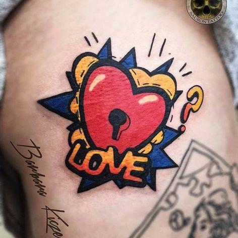 Amor? #BarbaraKiczek #gringa #colorido #colorful #grafico #graphic #comics #coração #heart #love #amor #fechadura #lock