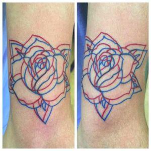 3-D rose by Josh Muzzy (via IG -- vtq_joshmuzzy_tattoos) #joshmuzzy #rose #3dtattoo