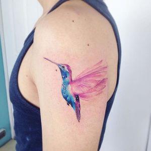 Hummingbird galaxy. (via IG - adrianbascur) #AdrianBascur #Galaxy #Galaxies #GalaxyTattoo #Hummingbird