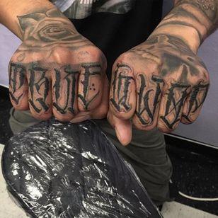 'True G Wop' Tattoo by Vince Le #lettering #script #darklettering #letteringartist #darkartist #VinceLe