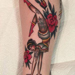 Tattooed circus babe via @beccagennebacon#becagennebacon #traditional #circus #pinup.jpg