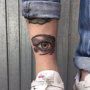 Eye tattoo by Bombayfoor #Bombayfoor #sketch #sketchstyle #illustrative #eye #engraving