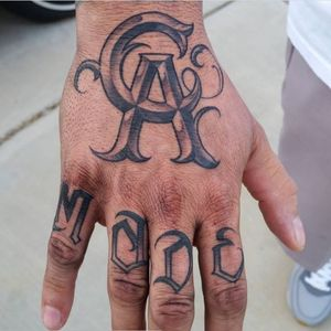 "California made by David ""Vandal"" Ruiz (IG—vandaltattoos). #California #DavidVandalRuiz #lettering #script #typography"