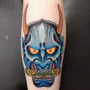 Hannya by Darren Brass #DarrenBrass #color #hannya #japanese #tattoooftheday