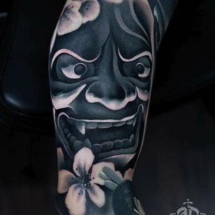 Hannya Tattoo by Alex Pancho #hannya #hannyatattoo #realism #colorrealism #realistictattoo #abstractrealism #realistictattoos #AlexPancho