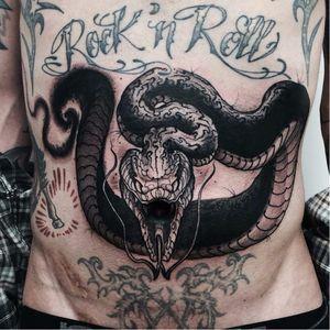 #LorenzoGentil #TatuadoresDoBrasil #Pretoecinza #blackandgrey #cobra #snake