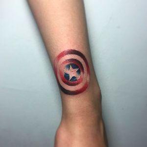Captain America tattoo by Archuan Chuanar. #captainamerica #superhero #marvel #comics #movies