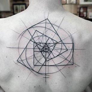 The Fibonacci Sequence Chaotic Blackwork Tattoo by Frank Carrilho @FrankCarrilho #FrankCarrilhoTattoo #FrankCarrilho #Chaotic #Black #Blackwork #Fibonacci