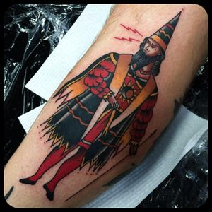 Lord tattoo by Leonie New. #LeonieNew #traditional #lord #medieval #man