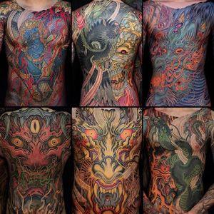 Japanese Tattoos by Shiryu #dragon #japanesedragon #japanese #japanesetattoo #japaneseboysuit #bigtattoos #largetattoo #asiantattoo #traditionaljapanese #classicjapanese #irezumi #Shiryu