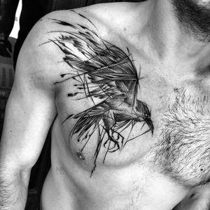 Bird Sketch Tattoo by Inez Janiak #bird #birdtattoo #birdsketch #sketch #sketchtattoo #sketchtattoos #blackwork #blackworktatoo #blackworksketch #graphicsketch #graphicblackwork #darktattoo #darkartists #InezJaniak
