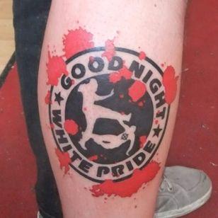 Goodnight white pride tattoo #antiracist #antiracisttattoo #antiracism #antiracismtattoo