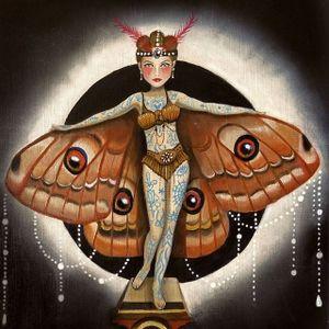 Moth Woman by Claudia Ducalia (via IG-claudia_ducalia) #fineart #artshare #tattooartist #oilpainting #ClaudiaDucalia
