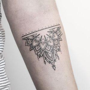 Half mandala tattoo by Rachael Ainsworth #RachaelAinsworth #ornamental #halfmandala
