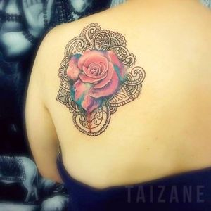 #flor #flower #aquarela #watercolor #Taizane #TaizaneTatuadora #brasil #brazil #portugues #portuguese
