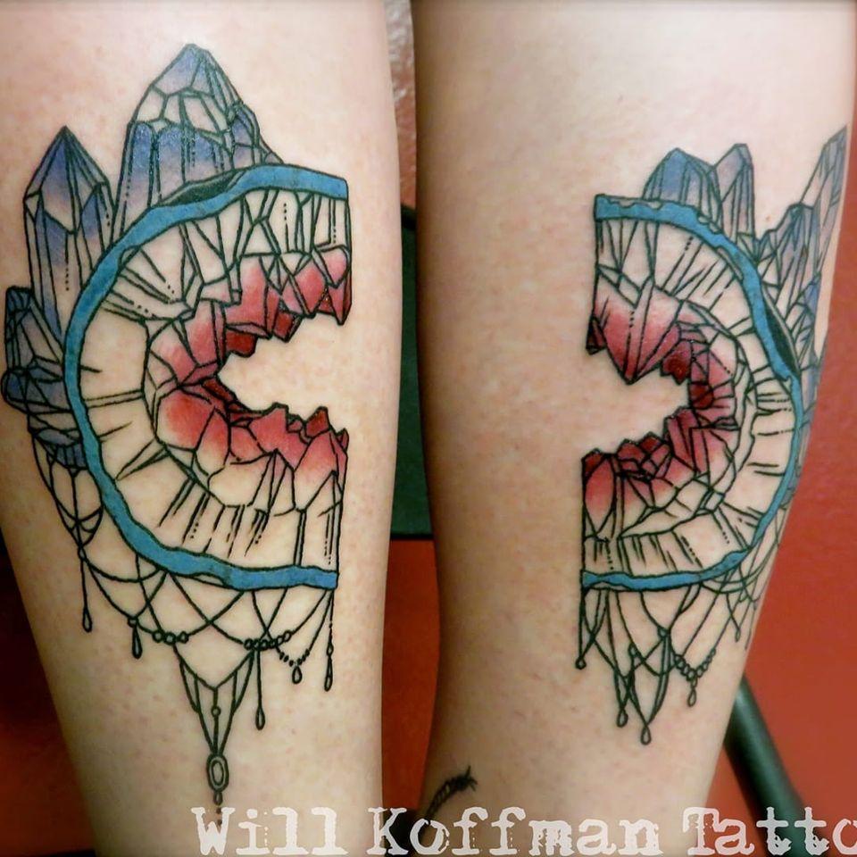 Geode Tattoo by Will Koffman #geode #geodecrystal #crystal #rock #nature #naturedesign #WillKoffman