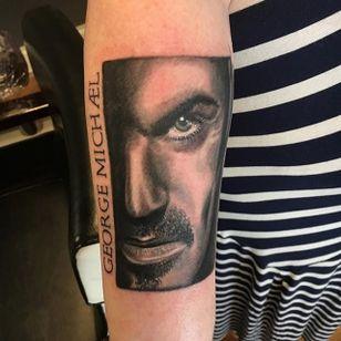George Michael (via IG—tattoo_crue) #GeorgeMichael #Pride #LGBT #PrideTattoos #MusicTattoo