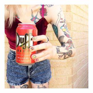 Photo: @thetinylittlegirl – Instagram. #thetinylittlegirl #tattooedwomen #tattooedladies #fashion #fashioninspiration #simpsons #thesimpsons