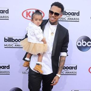Singer Chris Brown with daughter, Royalty #ChrisBrown #celebrity