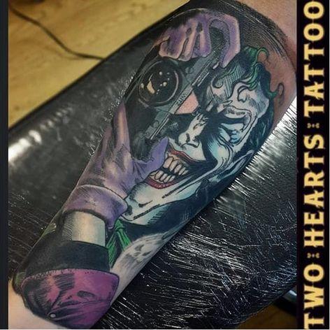 Killing Joke Tattoo by Elliott Stone #thekillingjoke #killingjoke #batman #batmanjoker #joker #dccomics #comicbook #ElliottStone
