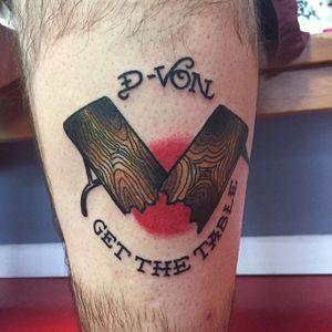 Dudley Boyz Tattoo by Julian Gray #WWE #wrestling #DudleyBoyz #JulianGray