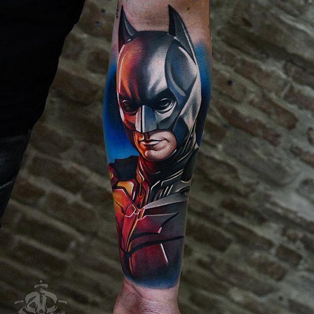 Batman Tattoo by Alex Pancho #batman #realism #colorrealism #realistictattoo #abstractrealism #realistictattoos #AlexPancho