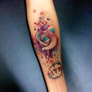 Flor! #RobertoFelizatti #aquarela #watercolor #tatuadoresdobrasil #sketch #colorida #colorful #flor #flower #pixel