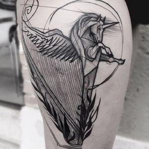 #FrankCarrilho  #unicorn #unicornio #horse #cavalo #criaturamitica #sketchstyle #estilorascunho #sketch #harpa