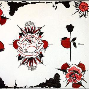 Flash by Sam Perry (via IG-_sam_perry_) #apprentice #FleurNoire #traditional #flower #SamPerry