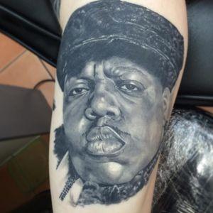 Biggie portrait. (via IG - drewgovantattooist) #BiggieSmalls #NotoriousBIG #NYC #Rap