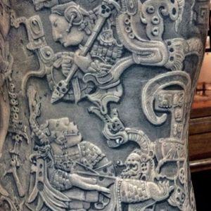 Alan Padilla (IG—alanpadillaart) #AlanPadilla #blackandgrey #largescale #Mayan #realism #sculptural #soft